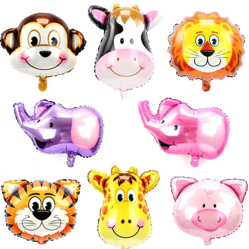 Safari Jungle Animal Lion Cow Zebra Balloon Giraffe monkey TIGER Parties Decor