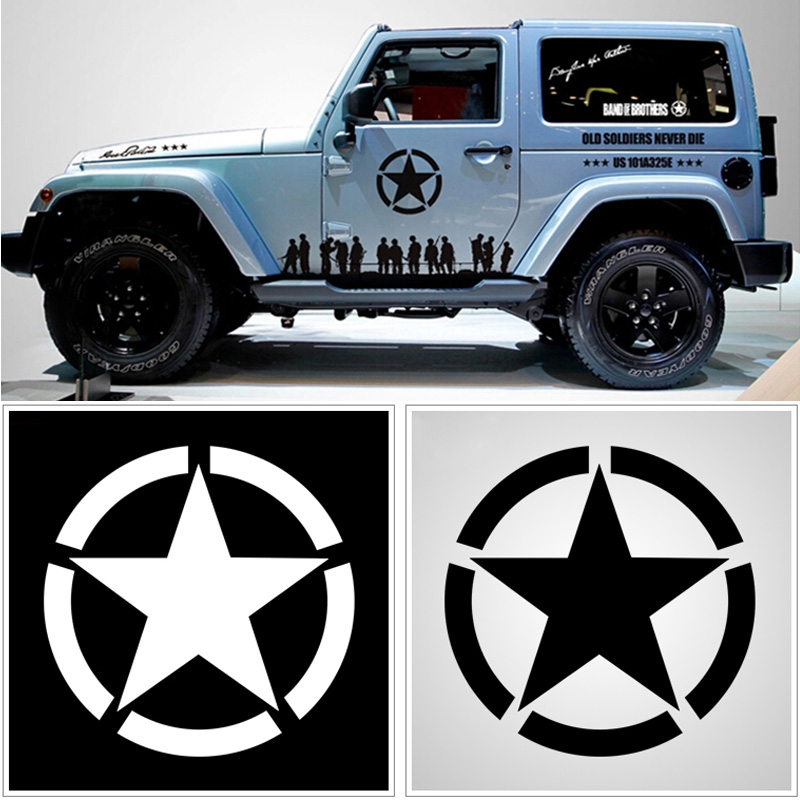 Jeep decal Wrangler Oscar Mike US Army Willy/'s Star Military Stickers