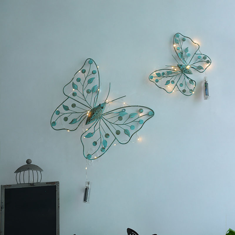 S L Retro Metal Butterfly Wall Hanger Wall Art Sculptures Home