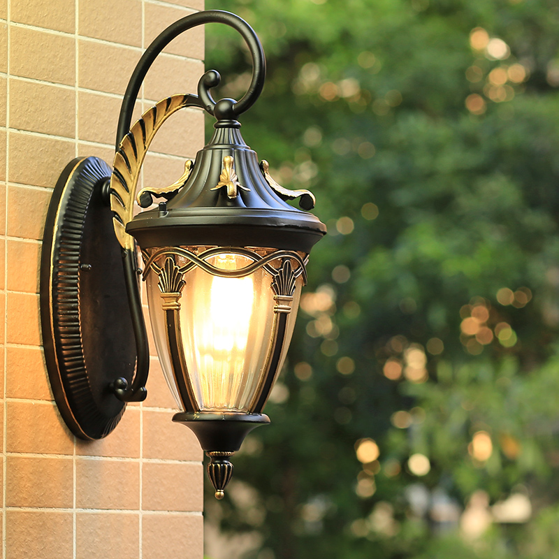 Image Is Loading French Provincial Black Lantern Maple Leaf Outdoor Wall