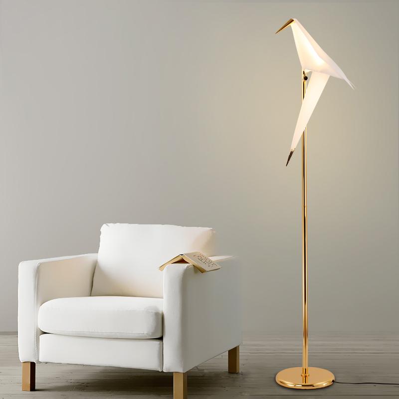 floor lighting led. Artistic 1/2 PVC Bird Shade LED Golden Linear Standing Floor Lights Night  Lamps Floor Lighting Led