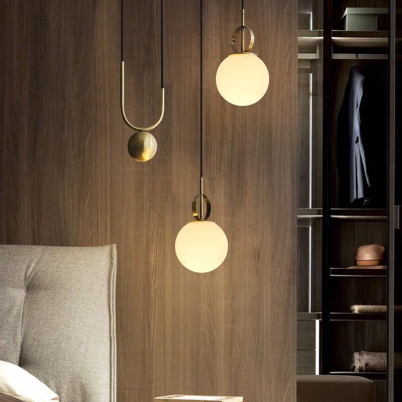 Golden Pull Down Ceiling Pendant Lights