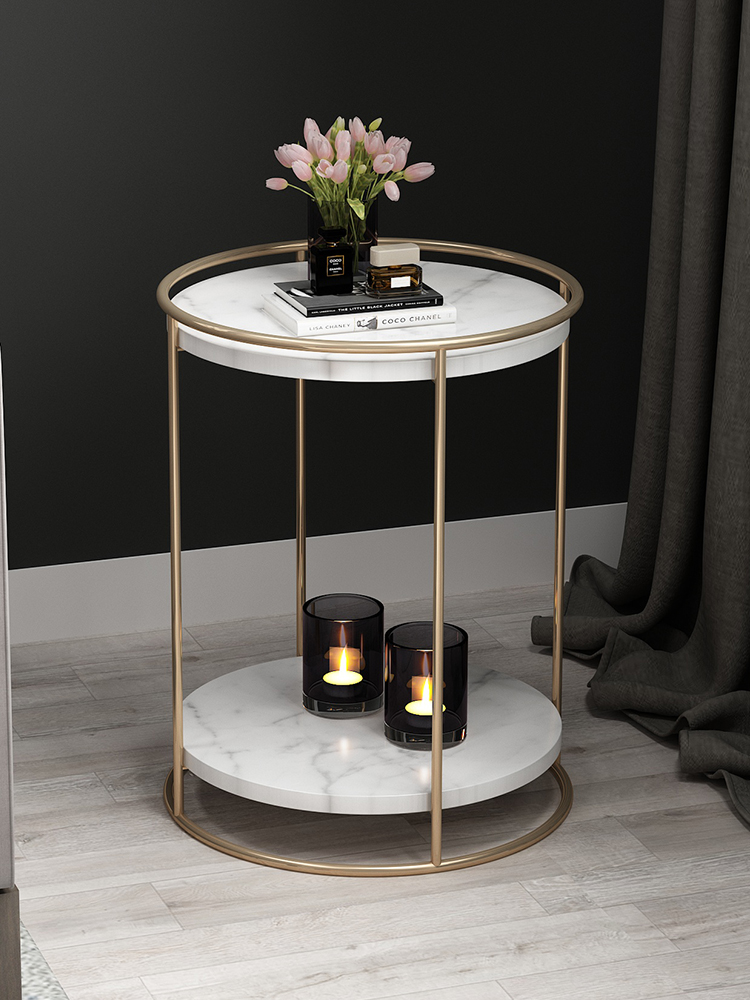Furniture Fashion Black Or Clear Glass Round Side Table 2 Tier Coffee Or Lamp Table Home Furniture Diy Brucebibee Com
