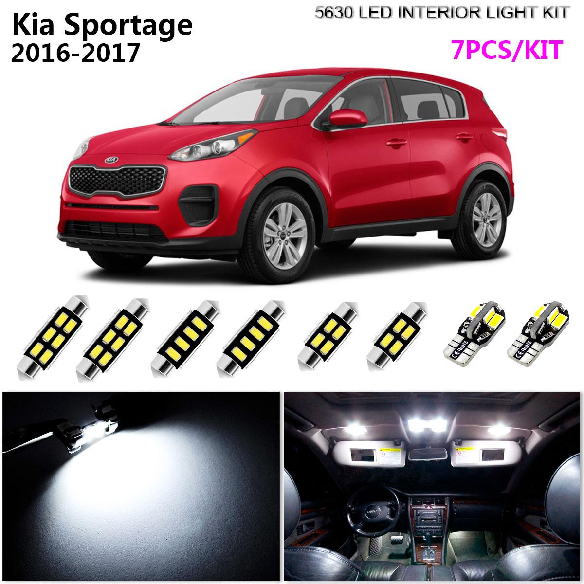 10 x White LED Bulbs for 2017 2018 Kia Sportage Reverse Interior Light Tag