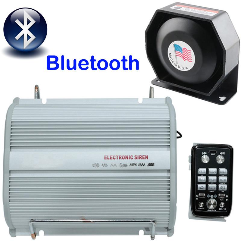 400W Bluetooth Siren Horn Speaker System Kit Police Car Warning ...