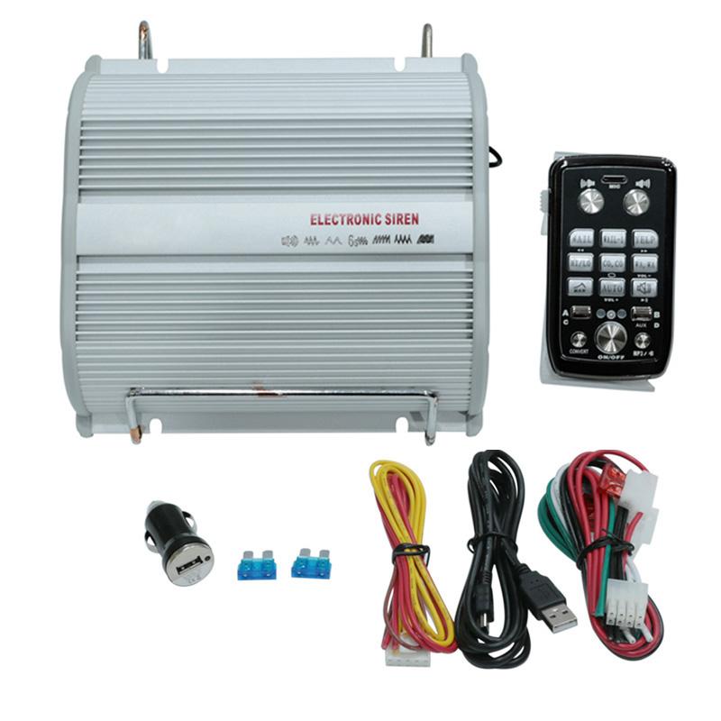200W Car Alarm Police Fire Loud Speaker PA Siren Horn + Bluetooth ...