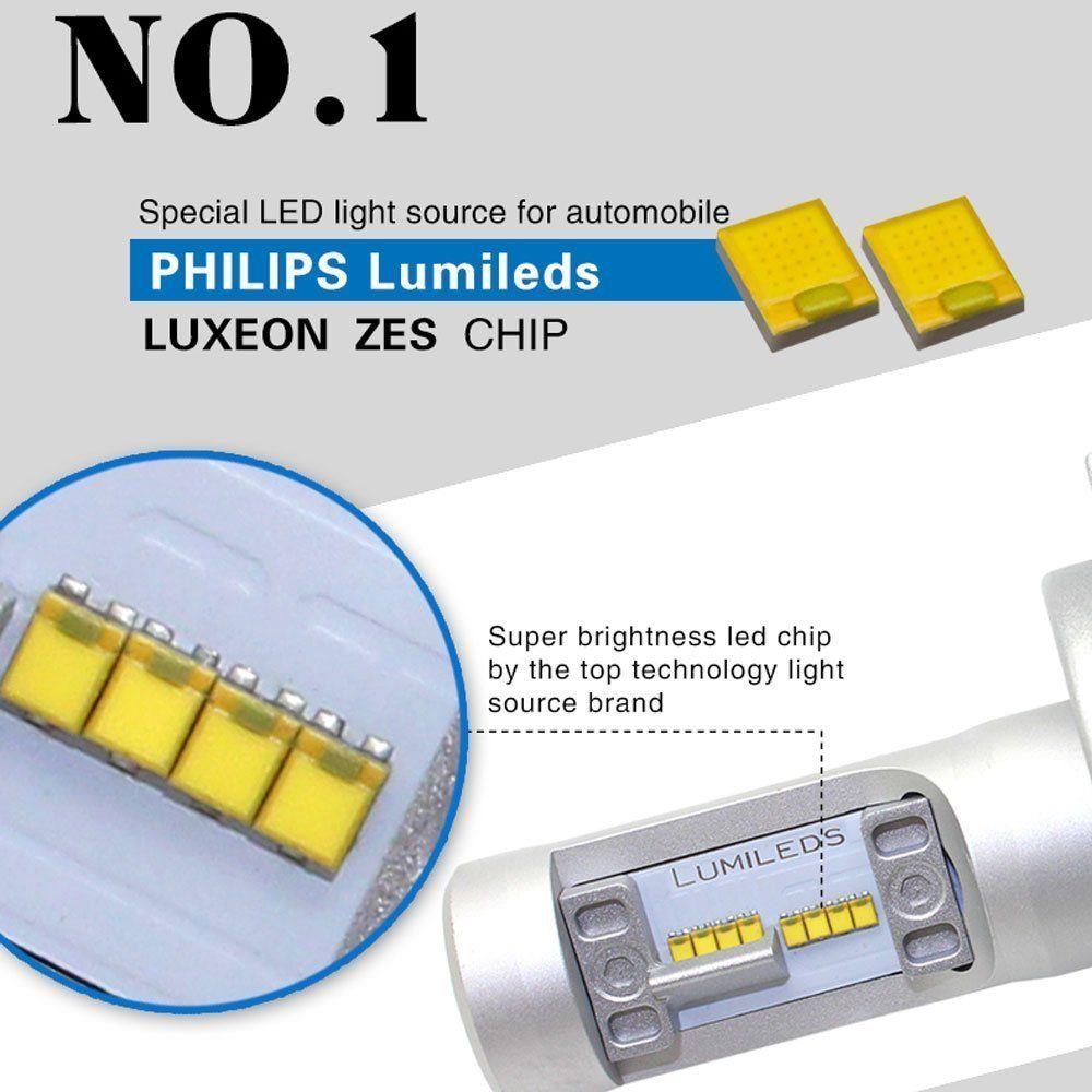 fanless g7 led headlight conversion kit 6500k philips. Black Bedroom Furniture Sets. Home Design Ideas