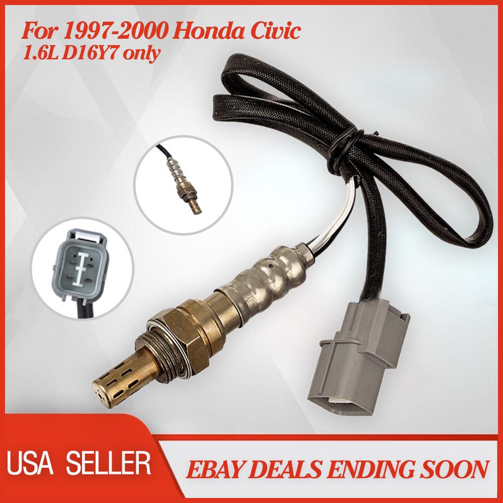 2x O2 Oxygen Sensors for Honda Civic 1997-2000 I4 1.6L D16Y7 Upstream/&Downstream