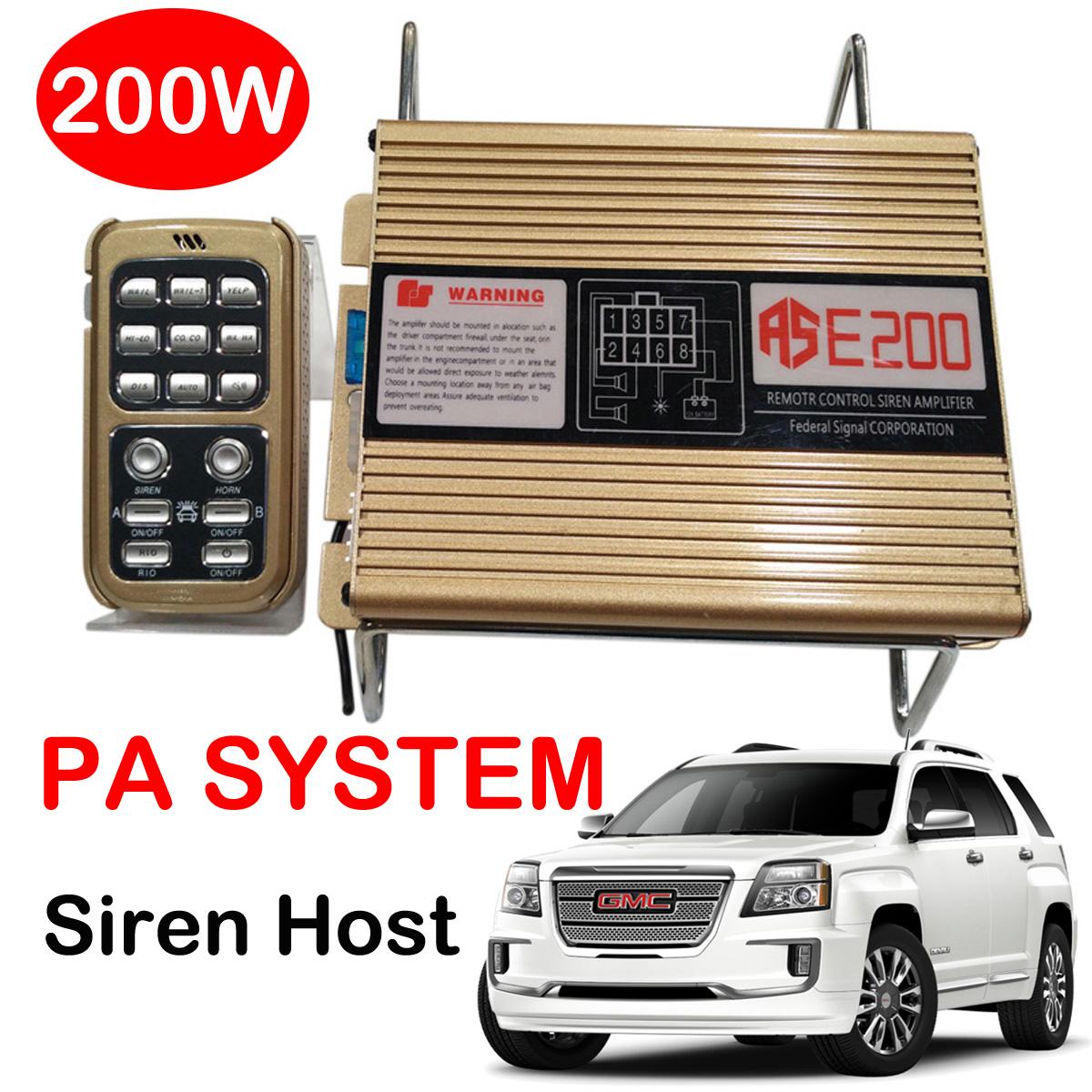 200w Police Fire Siren Horn Speaker Pa System Kit Car Warning Alarm Tone Circuit Control Host