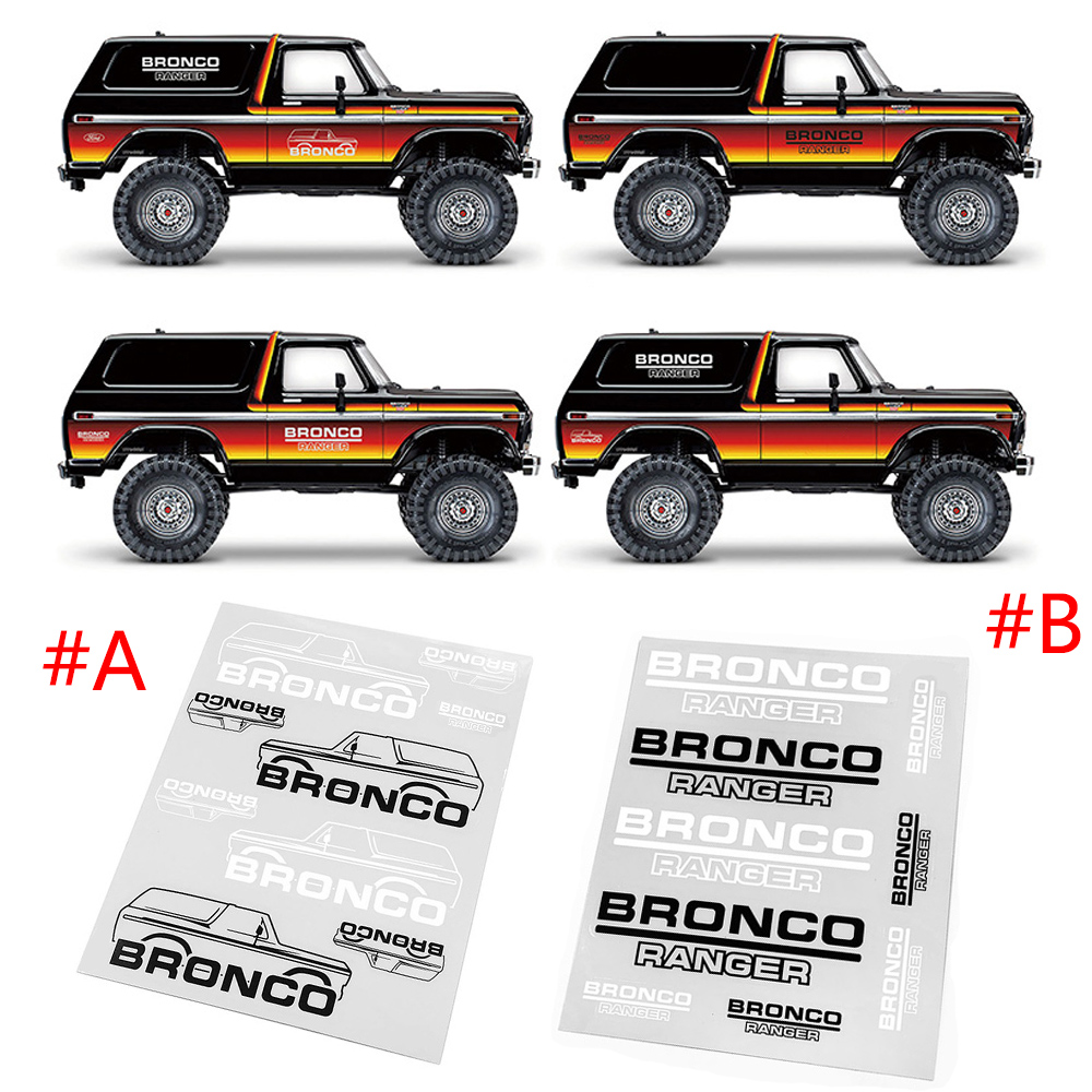 1//10 Scale Bronco Ranger Decals for TRX-4 Bronco Body