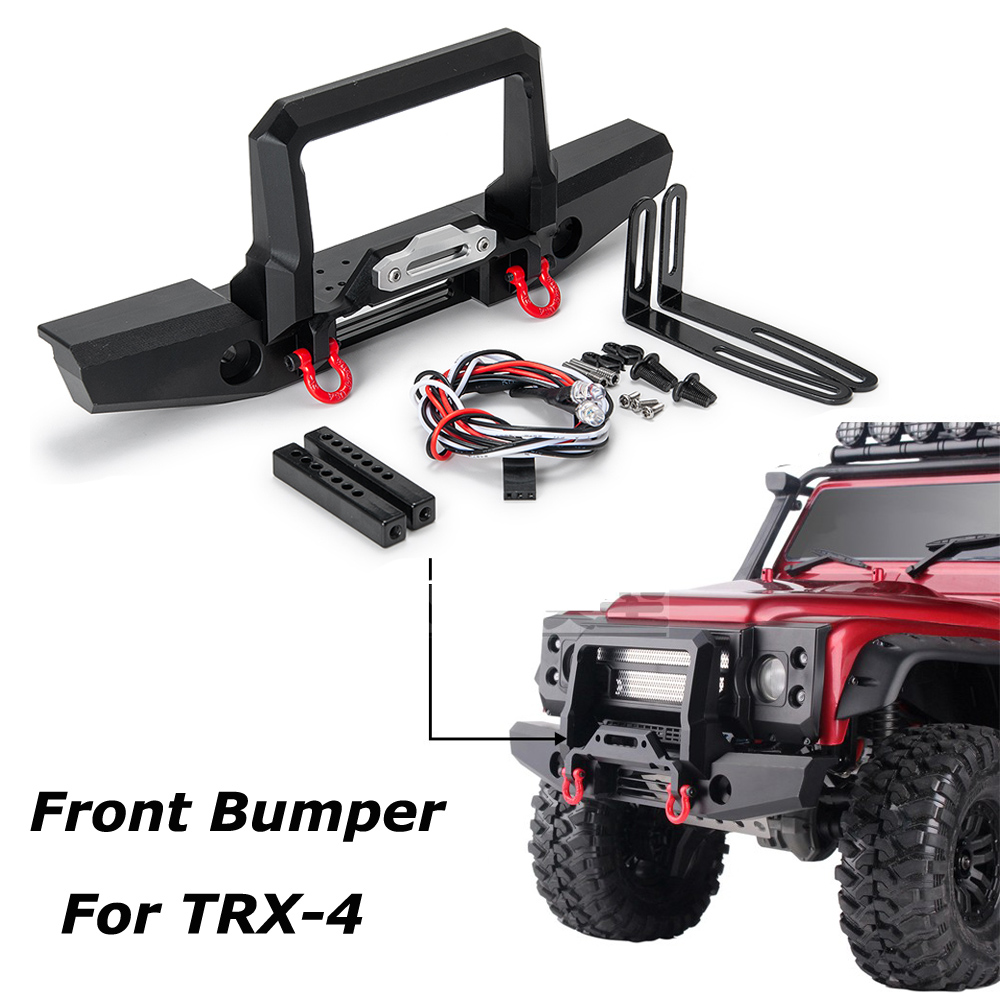 Front CNC Aluminum Front Winch Bumper Set for 1//10 RC Crawler Traxxas TRX-4