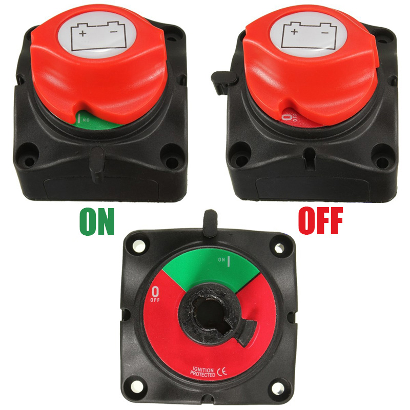 12V//24V Marine Removable Battery Isolator Cut Off Power Kill Switch On Off NEW
