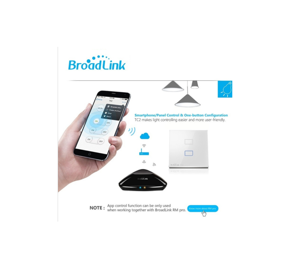 Details about Broadlink RM2 Pro Home Intelligent WIFI+IR+RF Remote  Controller Android&Apple OS