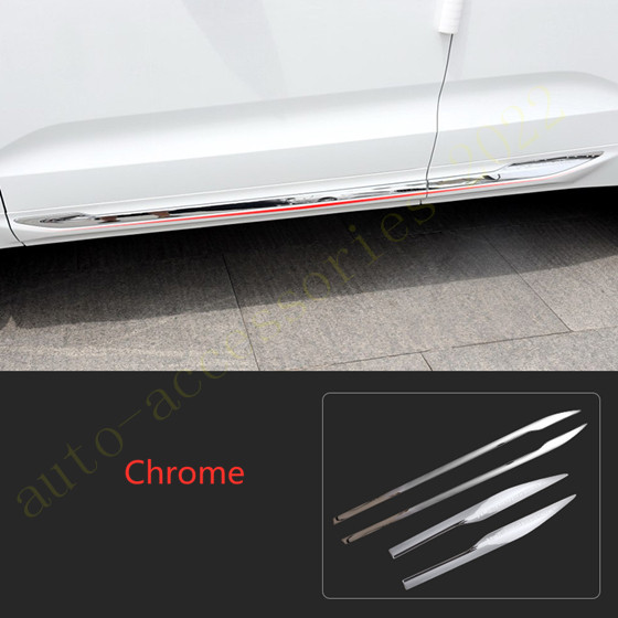 For Subaru Forester 2014-2018 Chrome Side Door Body Molding Streamer Cover Trim