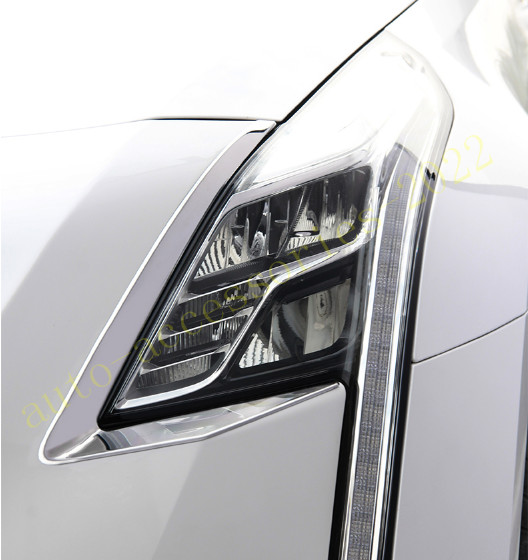 Stainless Front Headlights Head Light Lamp Cover Fit For