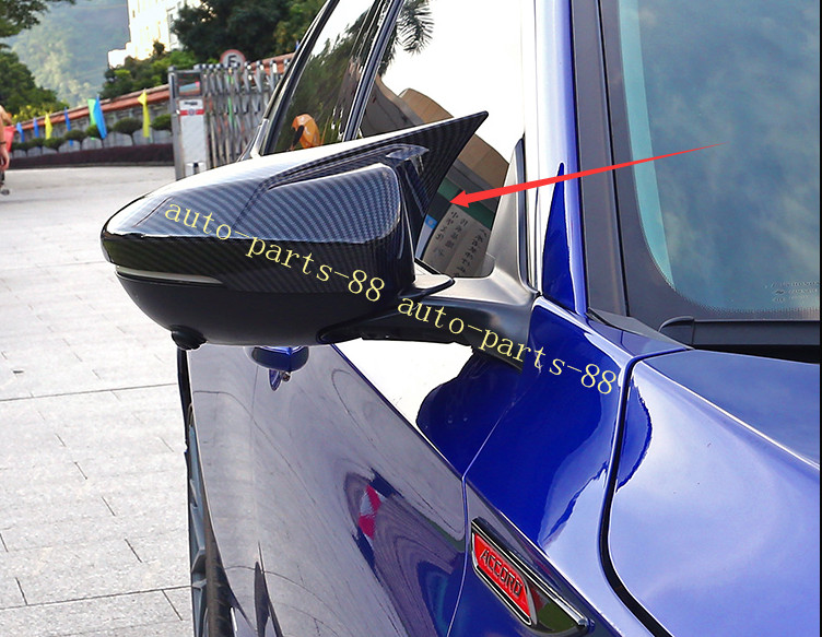 2PCS Carbon fiber  ABS Side Mirror Cover Trim For Accord 2018