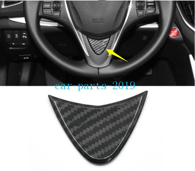 1x Carbon Fiber Interior Steering Wheel Decor Cover Trim