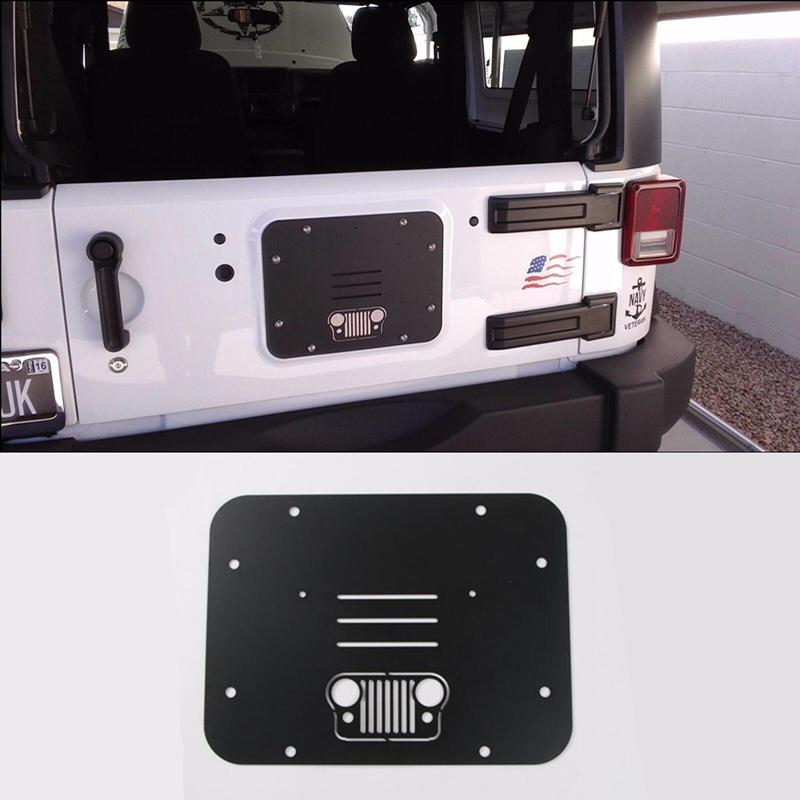 for Jeep Wrangler JK 2007-17 Spare Tire Carrier Delete Filler Plate Tramp Stamp