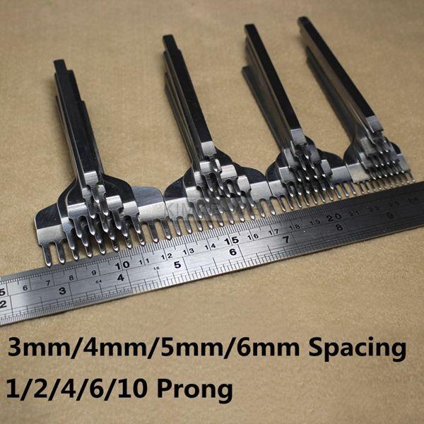 1//2//4//6//10 Prong Leder Werkzeug Flach Meißel Locher Stanzen Stitching Handwerk