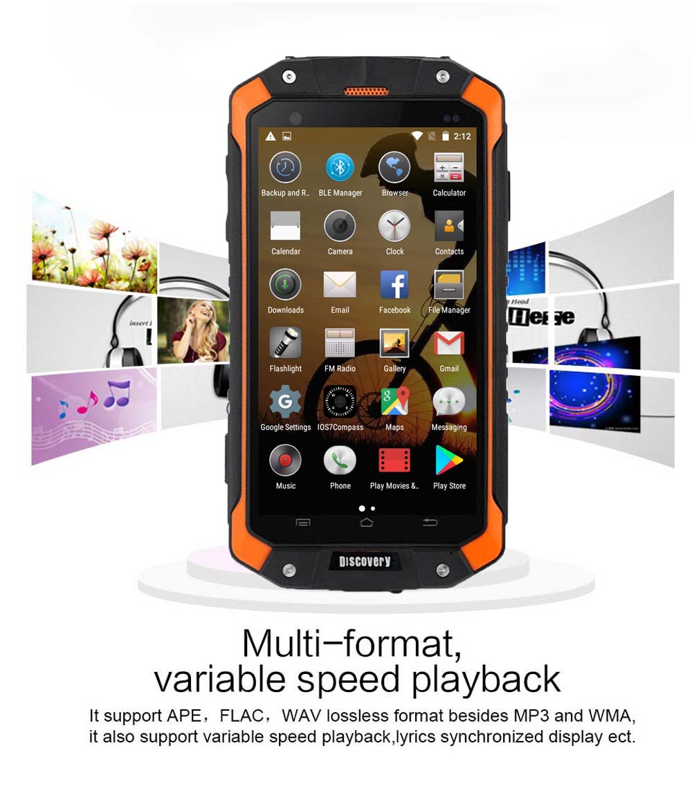 Rugged Android Discovery V9 Smartphone 4 5 Waterproof