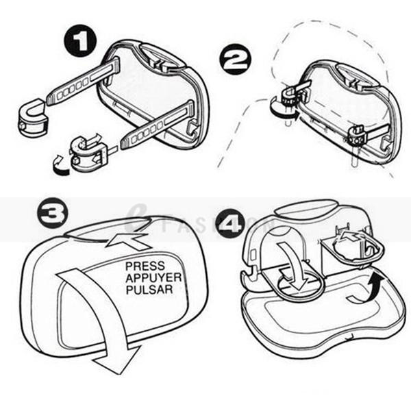 Car Seat Back Foldable Table Organizer Tray Travel Storage Bottle