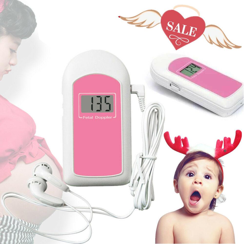 Prenatal Baby Sound Fetal Doppler 3MHz Baby Heart Rate Monitor,Backlight LCD,Gel