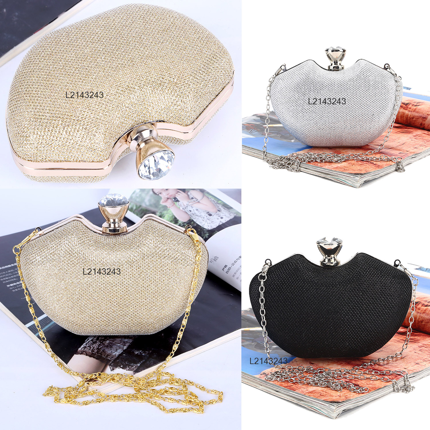 Details About Evening Handbags Jewelry Crystal Party Purse Bags Wedding Clutch Womens Handbag