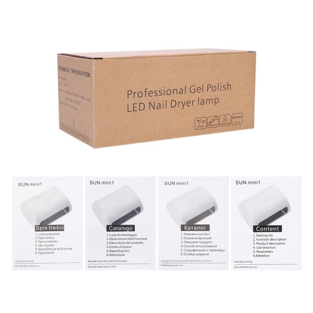 UK Seller!Mini Nail Dryer Manicure Nail Care 3 LED/UV Nail Gel Lamp ...