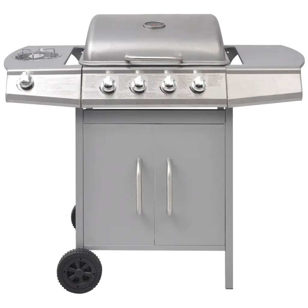 4 Burner Bbq Gas Grill Stainless Steel Barbecue 1 Side
