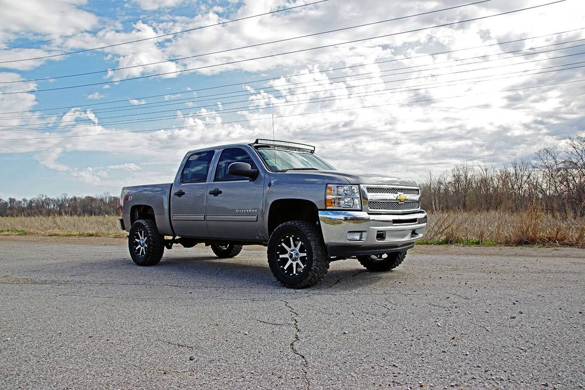52 Quot Curved Led Light Bar Combo Kit 1999 06 Chevy Silverado