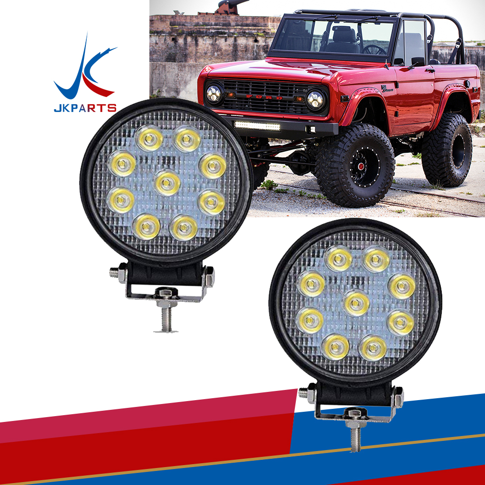 20X 4inch 27w Round LED Work Light SPOT Offroad Fog Driving 4WD Boat   Truck