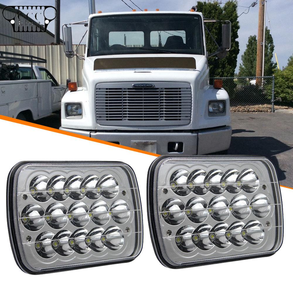 "2PC 7x6/""LED Headlights For International IHC Headlight Assembly 9200 9900 9400i"