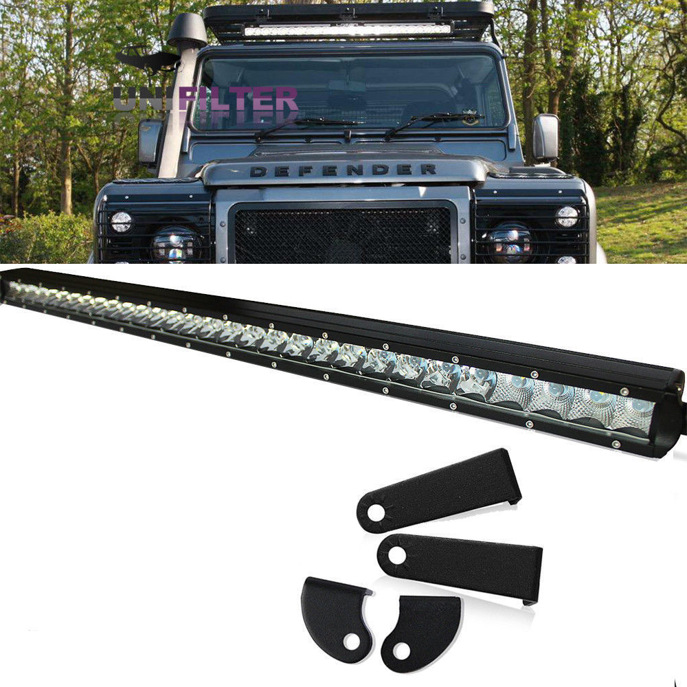 "30"" Land Rover Defender LED Light Bar Set With Mounting"