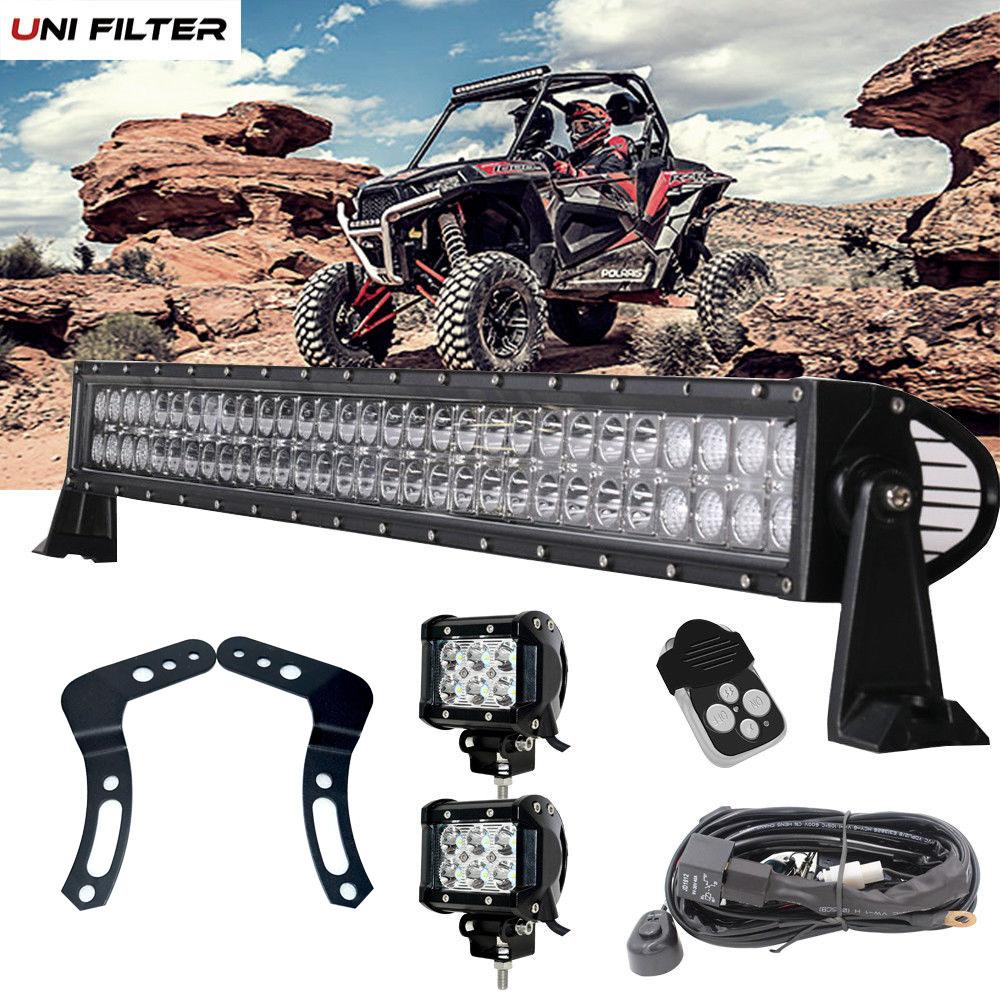 LED WORK LIGHT MOUNT BRACKET For UTV OFF ROAD 2014-2019 POLARIS RZR XP 1000 RZR