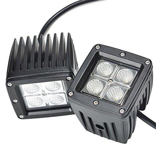 "2x 4/"" inch LED Work Light Bar FLOOD For Suzuki DRZ 400 LTR 230 Motorcycle"