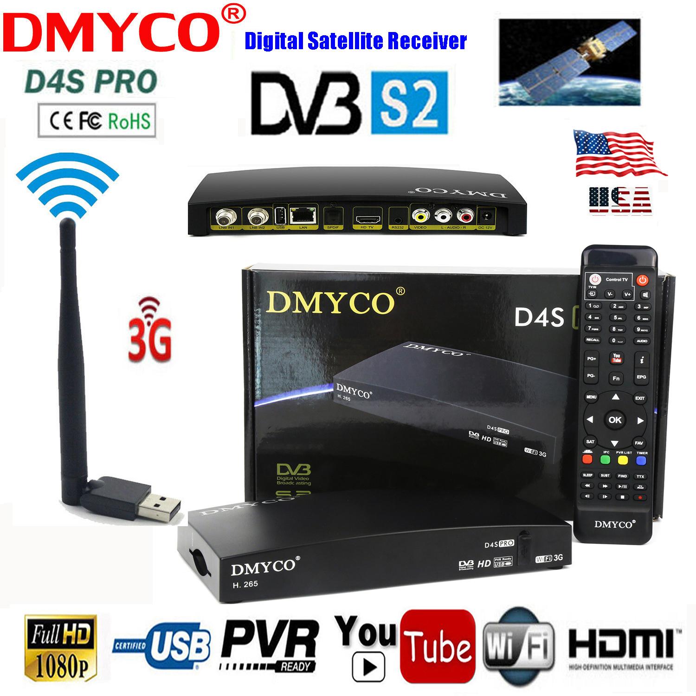 DMYCO D4S PRO DVB-S2 HD Satellite TV Receiver Dual-Core CPU DDR III PVR MPEG-5