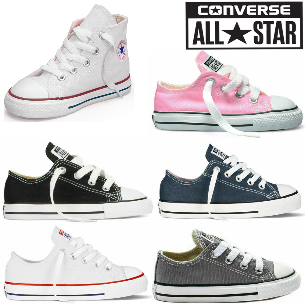 c9521b754c Details about Converse All Star Kids Child Canvas Shoes Low Hi Top Shoes  Sneakers Trainers