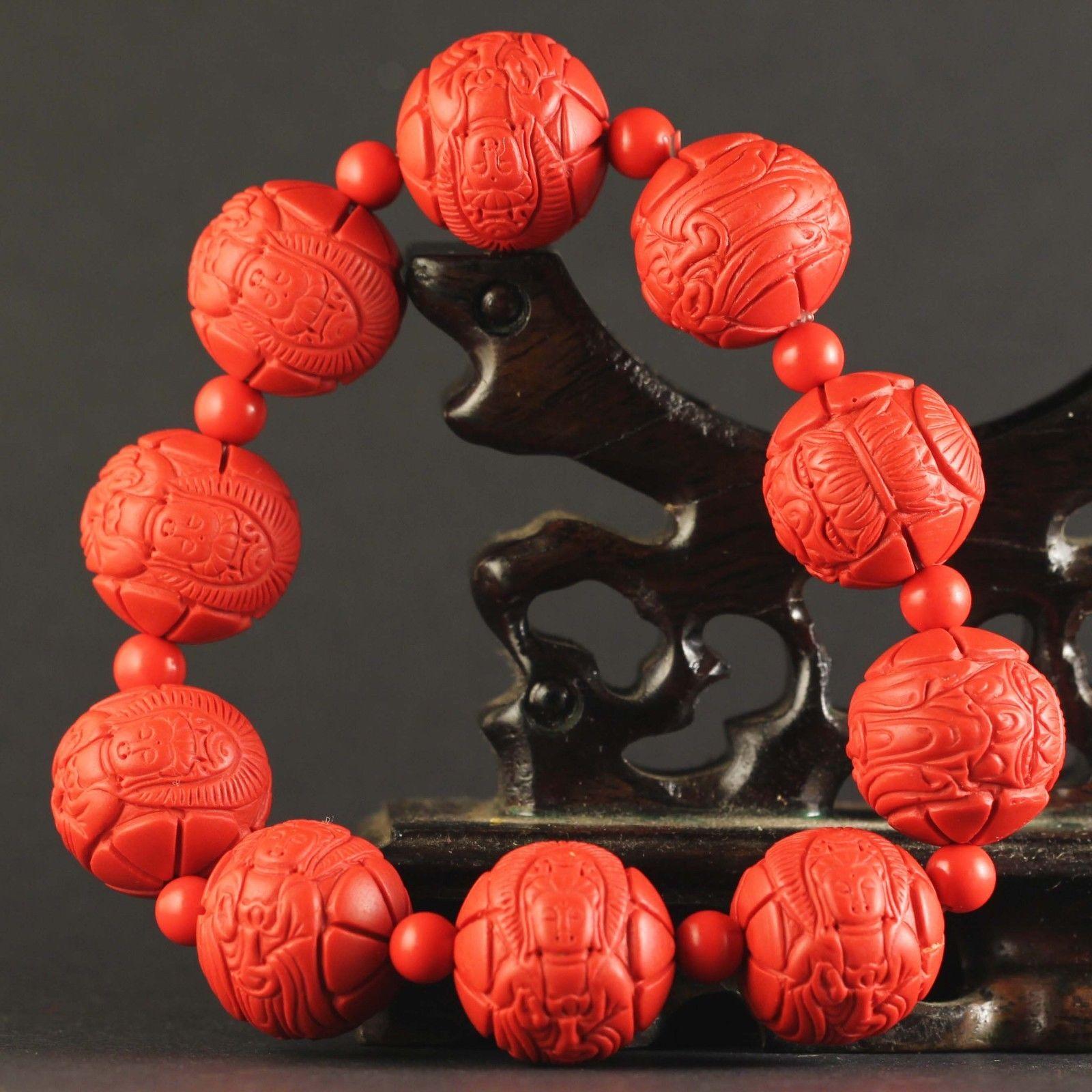 China old natural jade bangle Chinese natural jade beads Bracelet