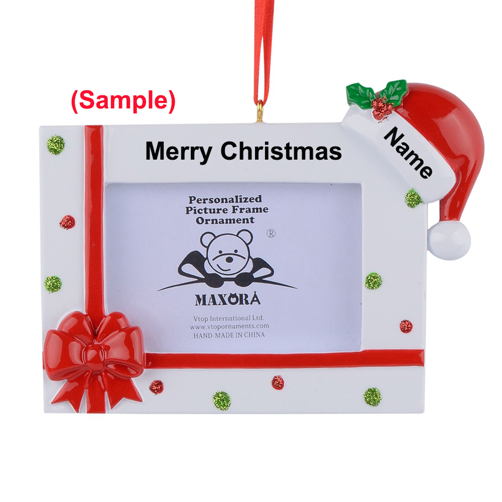 Personalized Christmas Ornament Picture Frame Christmas ...