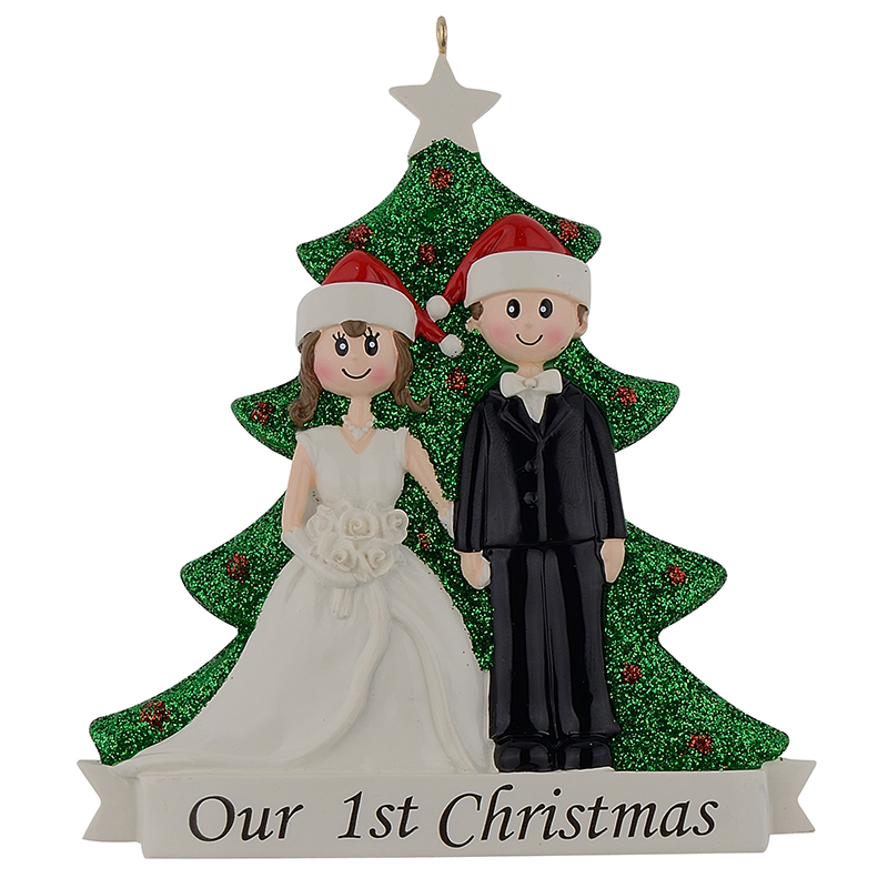 MAXORA Our 1st Christmas Wedding Couple Personalized Ornament ...