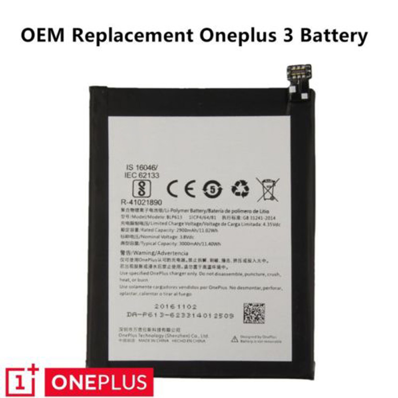 Details about OEM OnePlus New Replacement Battery Original For OnePlus  3/2/1/X /3T with Tools