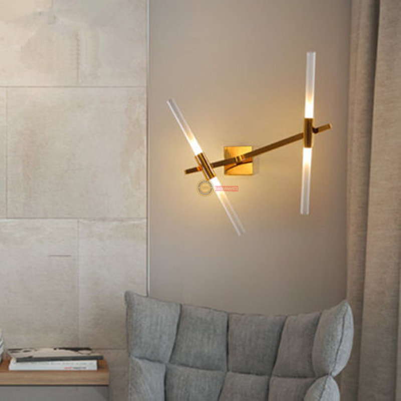 Details about Roll Hill Agnes LED lights glass Tube wall lamp Lining Room  bedroom wall light