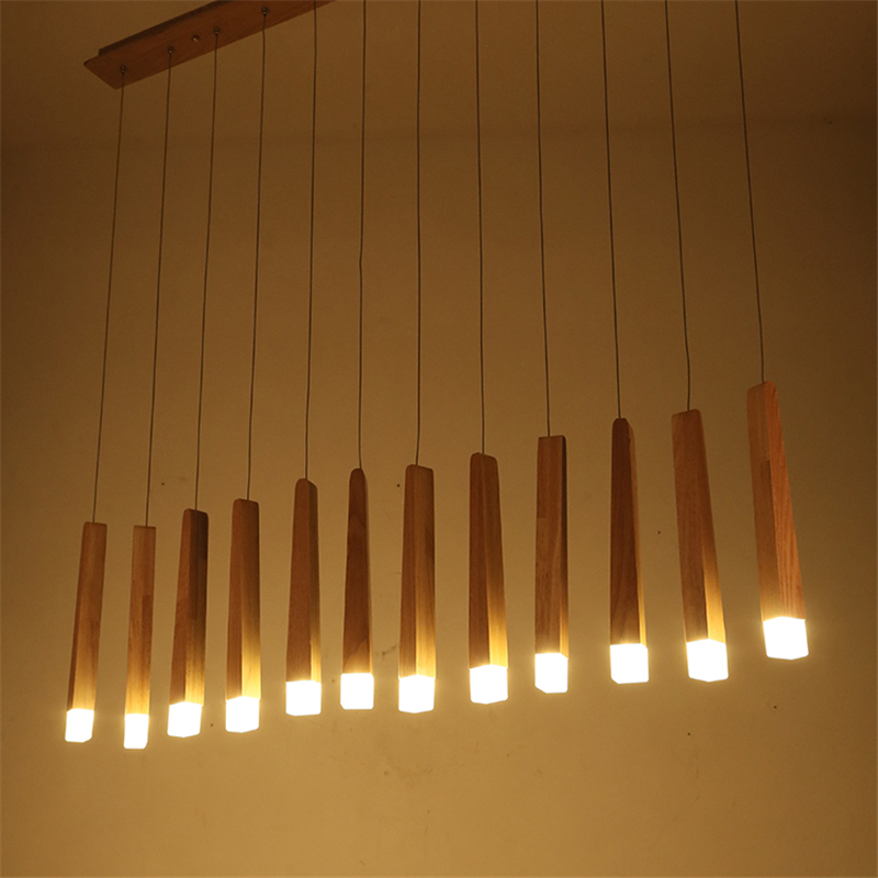 New modern simple art bar wooden led chandelier ceiling light wood new modern simple art bar wooden led chandelier ceiling light wood pendant lamp mozeypictures Images