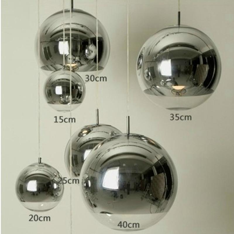 Tom Dixon Chrome Mirror Glass ball pendant lamp Ceiling Light ...