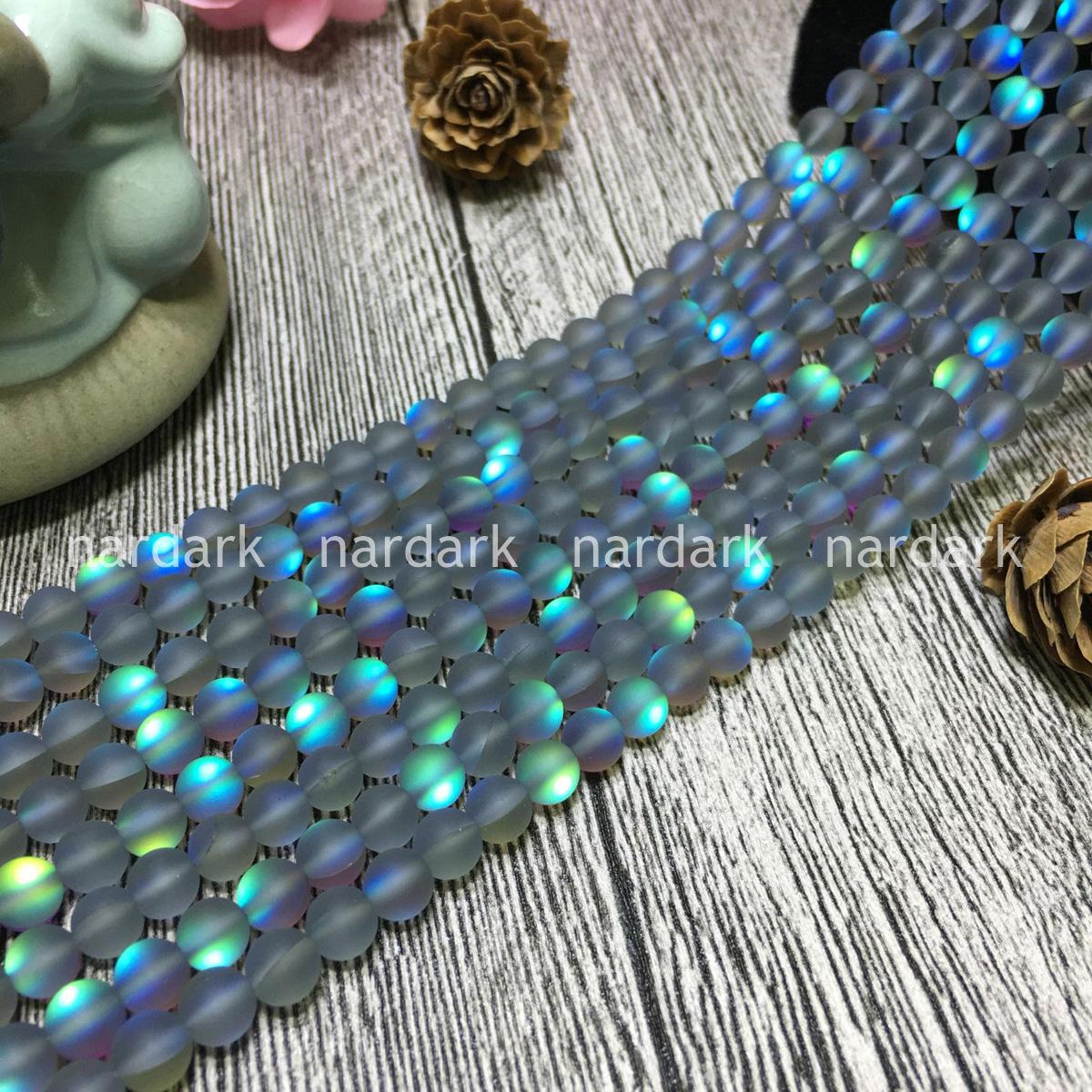 Natural 6//8//10//12mm Round White Rainbow Moonstone Jewelry Making Gemstone Strand