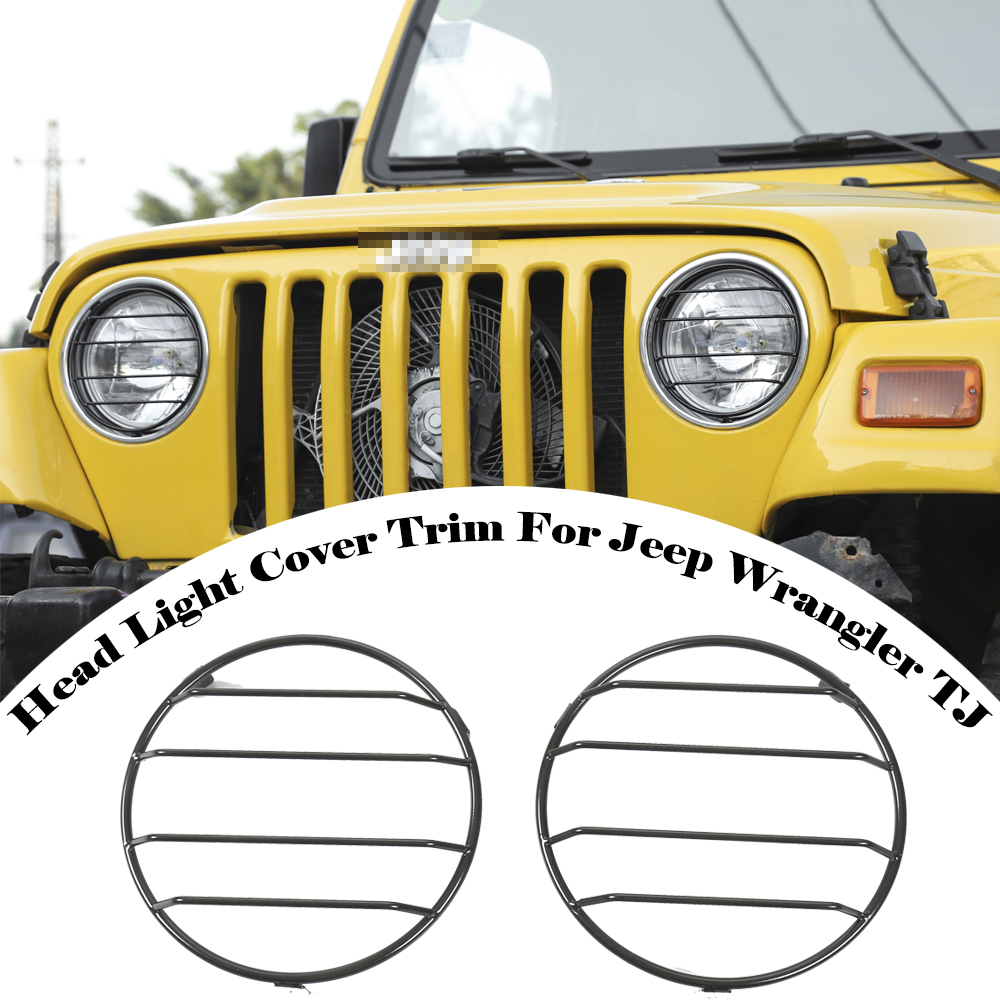 Angry Bird Headlight Bezels Insert Cover Trim for 1997-2006 Jeep Wrangler TJ JeCar for TJ Headlight Cover