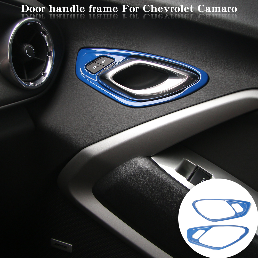 ABS Interior Car Door Handle Cover Panel Trim Fit Chevrolet Camaro 2017 2pcs