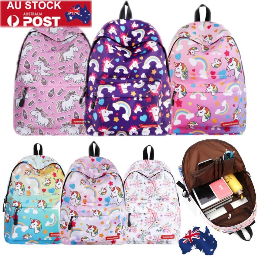 Details about Womens Unicorn Rainbow Backpack School Bag Travel Girls Book  Rucksack Satchel AU 0e1b740d8f33e