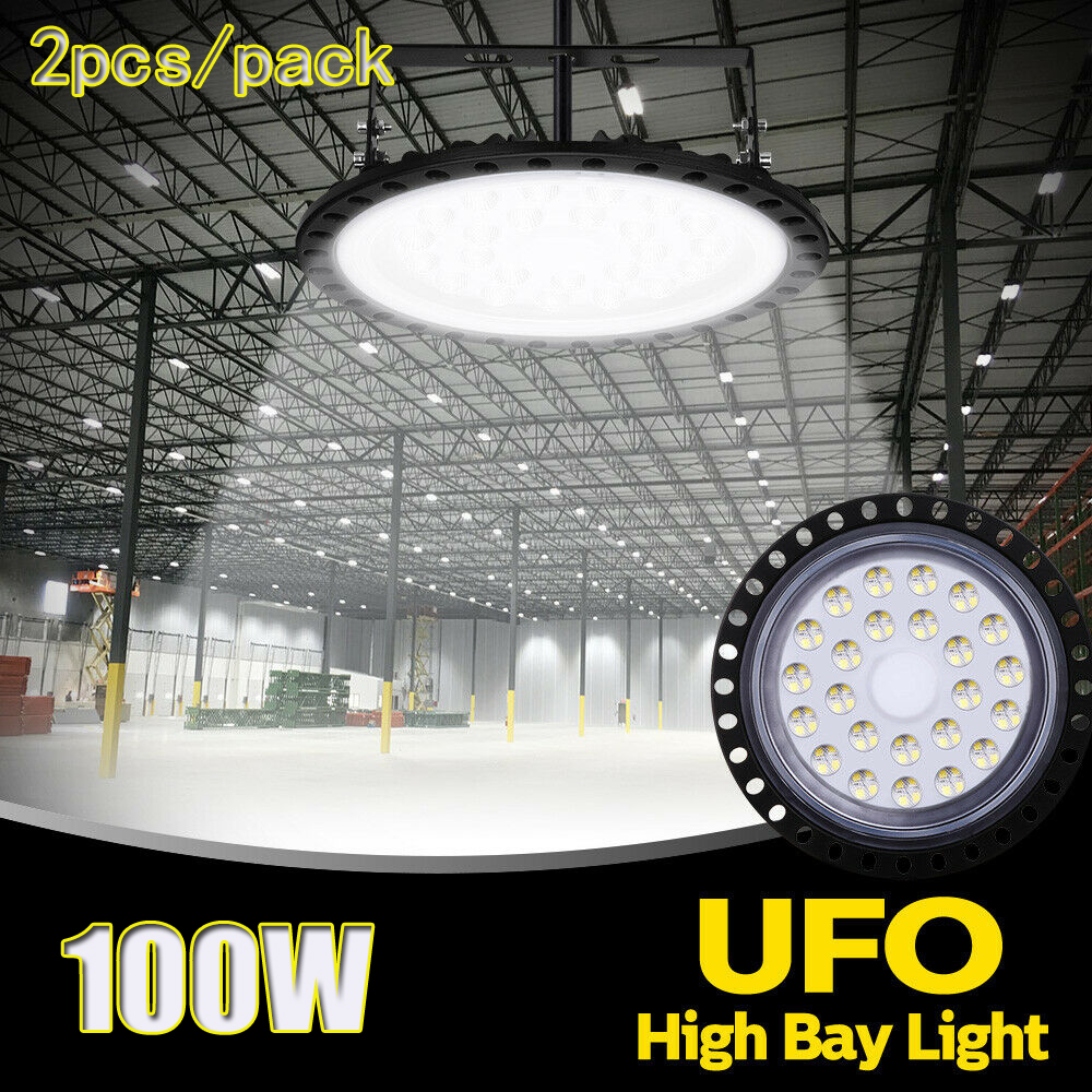 2X 250W UFO LED High Bay Light Industrial Warehouse Manufactory Shop Cool White