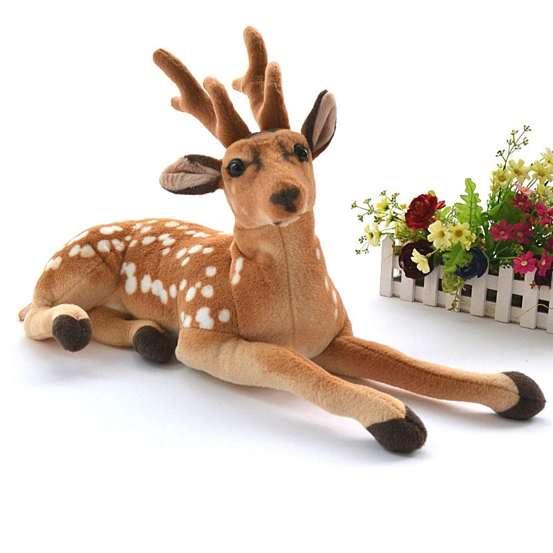 Stuffed Plush Simulation Deer Doll Cute Animal Pillow Cushion Kids